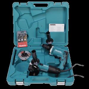 Combopack klopboormachine + haakse slijper